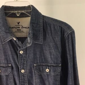 American Eagle Chambray Button Up